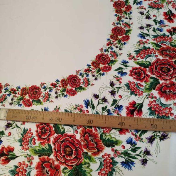 ткань с маками вышивка
