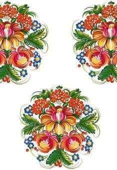 Ткань петриковская роспись