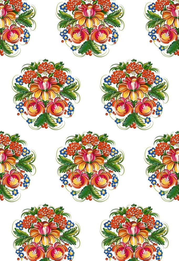 ткань с петриковской росписью