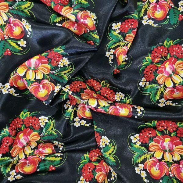 Ткань с петриковскими узорами