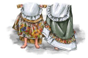 Идеи для платья в русском стиле