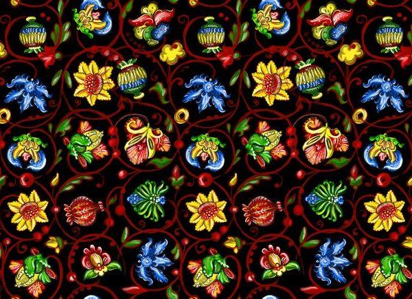 ткани в русском стиле