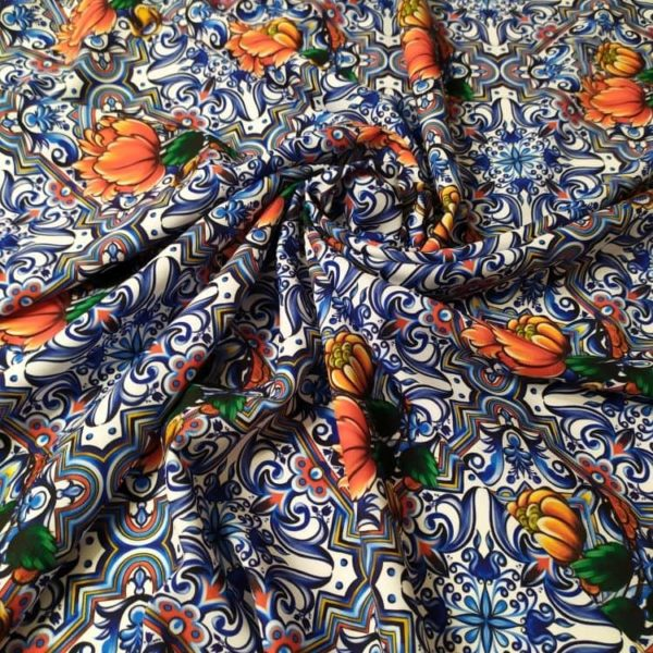 Ткань майолика