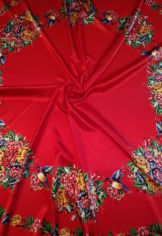 Ткань жостово для юбки солнце