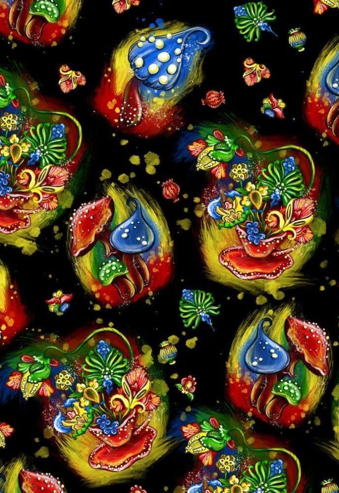 Ткань сказка грибочки