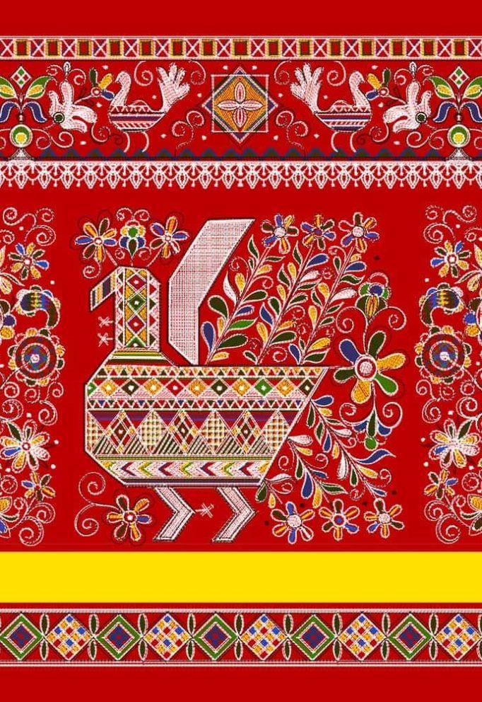 Ткани с русскими узорами