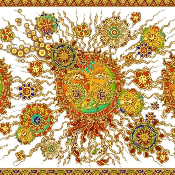 Ткань солнце ярило