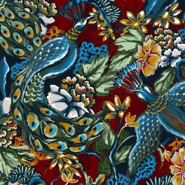 Ткань с жар-птицами