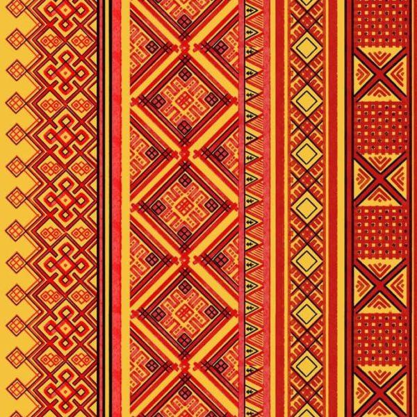 ткань с русскими орнаментом
