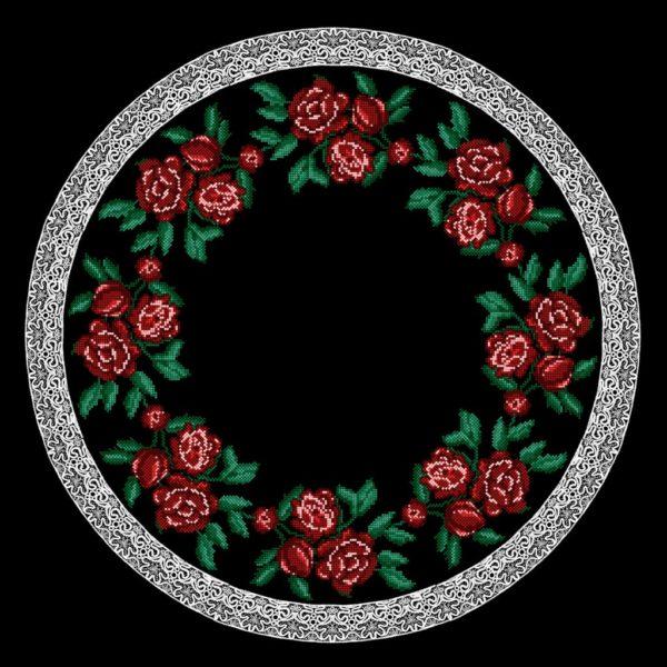 ткань с розами под вышивку крестиком