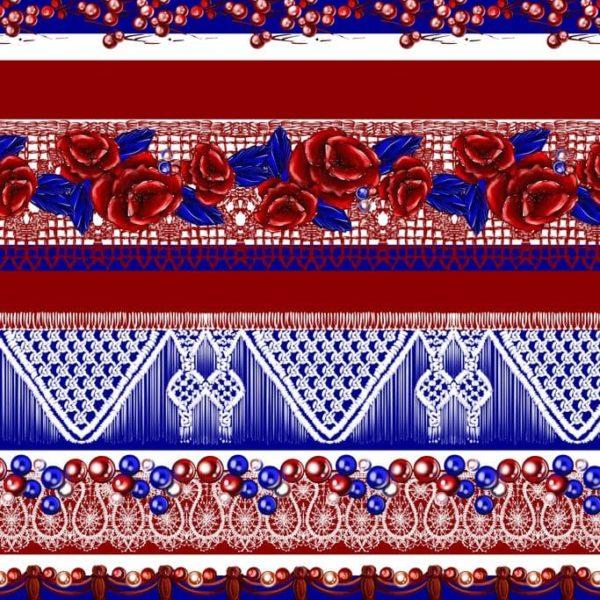 Ткань с кружевами этническая