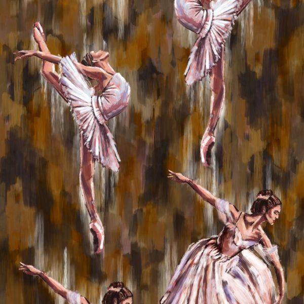 Ткань с балеринами