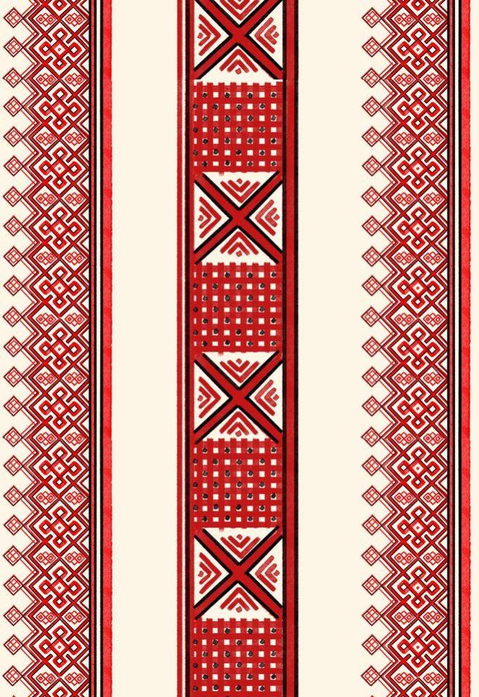 ткань с русскими орнаментами
