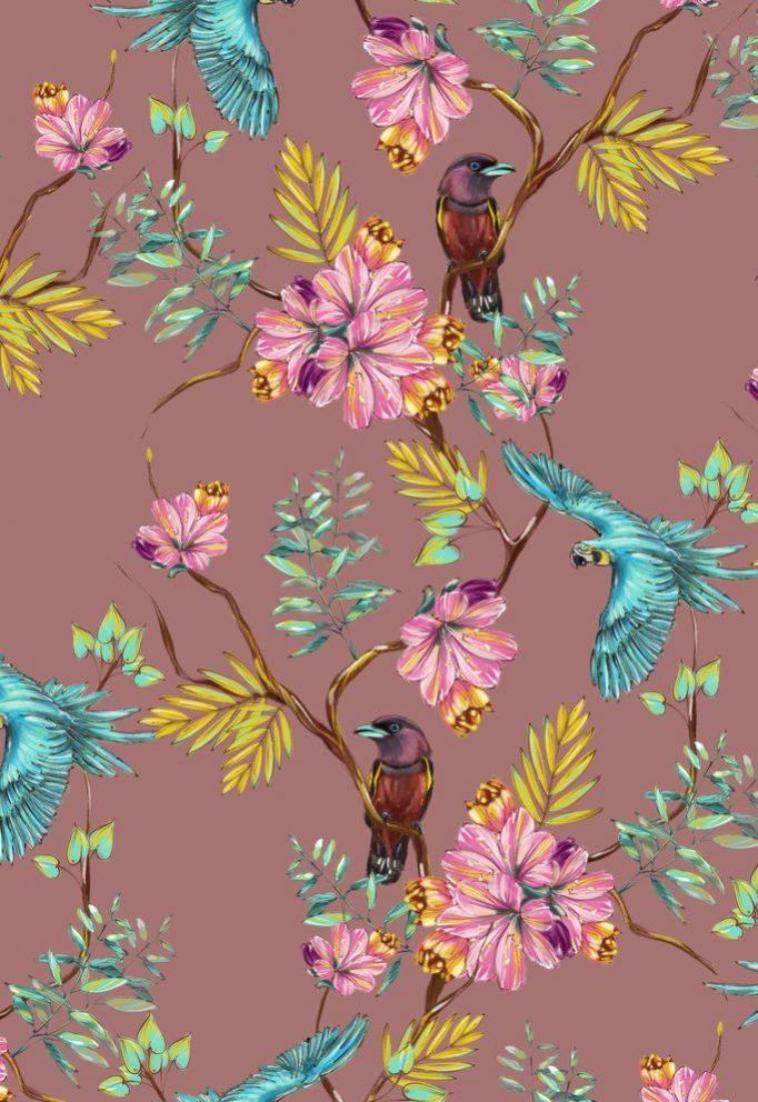 Ткань попугаи