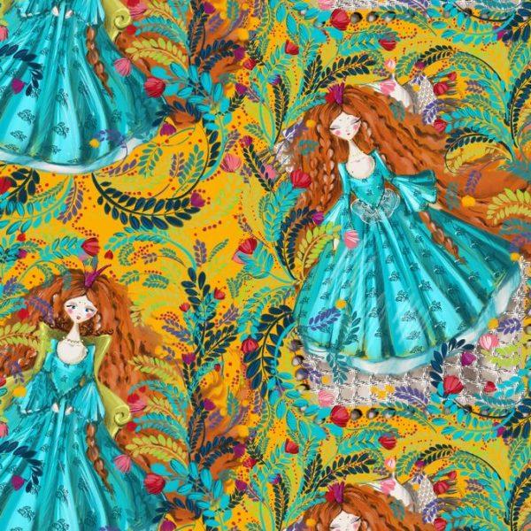 Ткань с принцессами